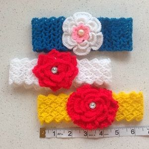 Other - Crocheted Headband Set of 3 for $10